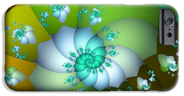 Fractal iPhone Cases - Peppermint Chocolate iPhone Case by Jutta Maria Pusl
