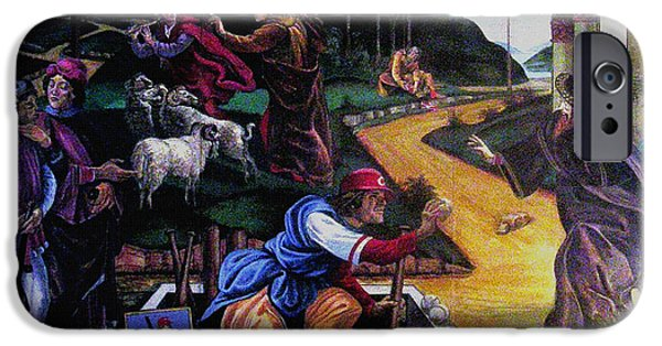 Baseball Uniform Paintings iPhone Cases - Pete Rose In The Renaissance iPhone Case by Stan Esson