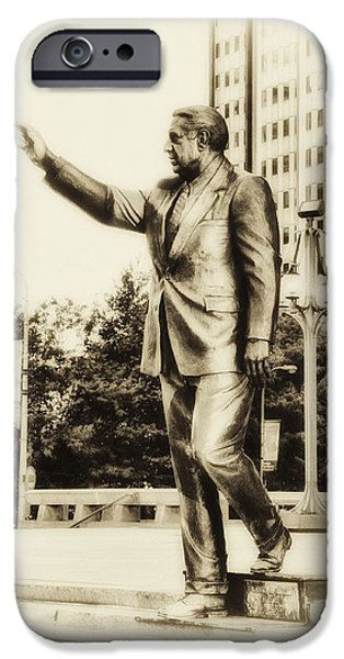 Politician Digital iPhone Cases - Philadelphia Mayor - Frank Rizzo iPhone Case by Bill Cannon