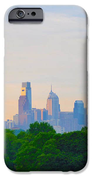 Philadelphia Skyline from West Lawn of Fairmount Park iPhone Case by Bill Cannon