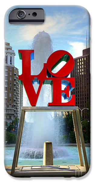 Paul Ward iPhone Cases - Philly love iPhone Case by Paul Ward