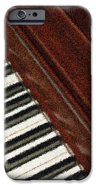 Piano iPhone Cases - Piano Keys iPhone Case by Carolyn Marshall