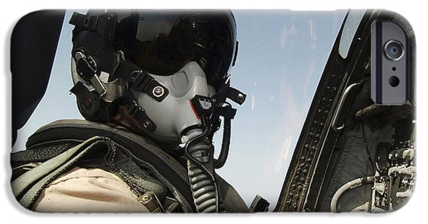 Electronic iPhone Cases - Pilot Performs A Flight Mission In An iPhone Case by Stocktrek Images