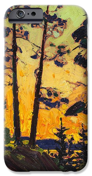 20th iPhone 6 Case - Pine Trees At Sunset by Tom Thomson