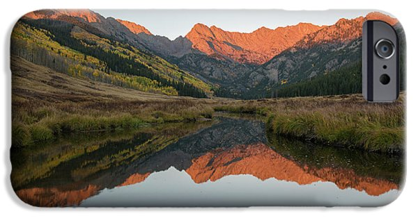 IPhone 6 Case featuring the photograph Piney River Autumn Sunrise by Aaron Spong