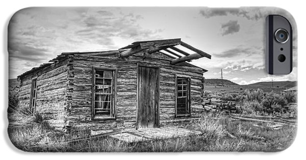 Pioneer Homes iPhone Cases - Pioneer Home - Nevada City Ghost Town iPhone Case by Daniel Hagerman