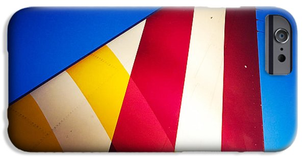 Detail iPhone 6 Case - Plane Abstract Red Yellow Blue by Matthias Hauser
