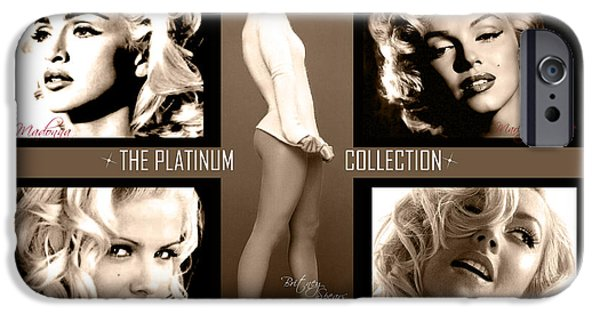 Madonna Digital Art iPhone Cases - Platinum Collection iPhone Case by Anibal Diaz