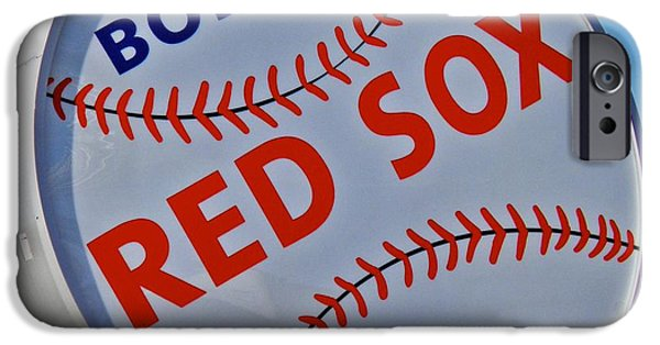 Boston Red Sox iPhone Cases - Play Ball iPhone Case by Donna Shahan