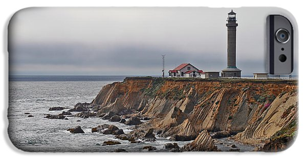 Coast Highway One iPhone Cases - Point Arena Lighthouse CA iPhone Case by Christine Till