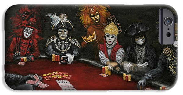 Chip iPhone Cases - Poker Face II iPhone Case by Jason Marsh