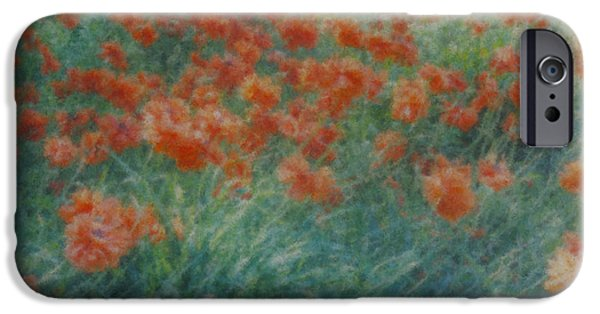 Mcentee Paintings iPhone Cases - Poppies #2 iPhone Case by Bill McEntee