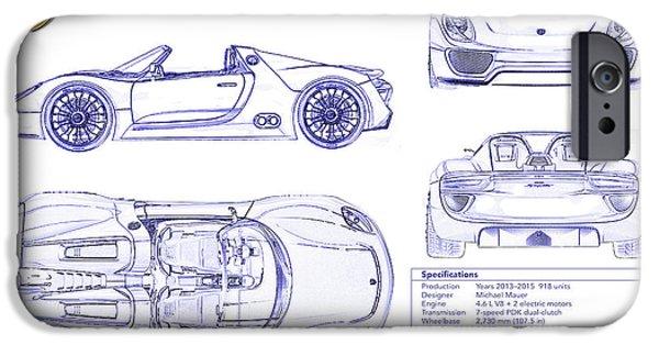 918 Spyder iPhone 6 Cases | Fine Art America on ariel atom blueprints, porsche gt3 blueprints, ac cobra blueprints, hummer blueprints, gmc blueprints, nissan blueprints, honda blueprints, porsche suv blueprints, chrysler blueprints, mazda blueprints,