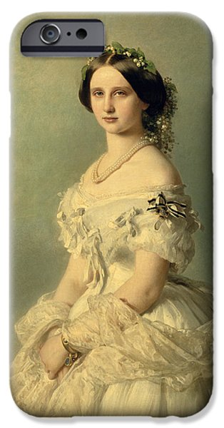 Royal iPhone Cases - Portrait of Princess of Baden iPhone Case by Franz Xaver Winterhalter