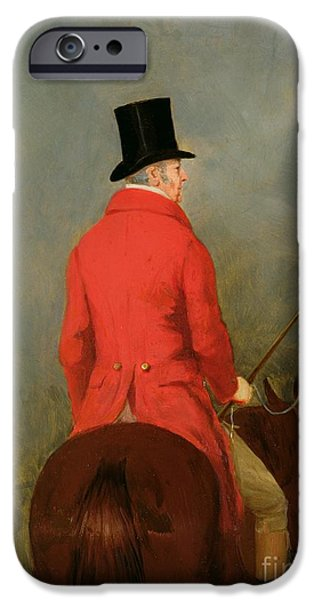 Top Hat iPhone Cases - Portrait of Thomas Cholmondeley iPhone Case by Henry Calvert