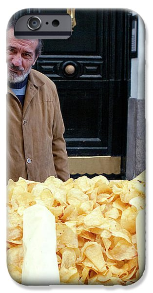Potato Chip Man iPhone Case by Lorraine Devon Wilke