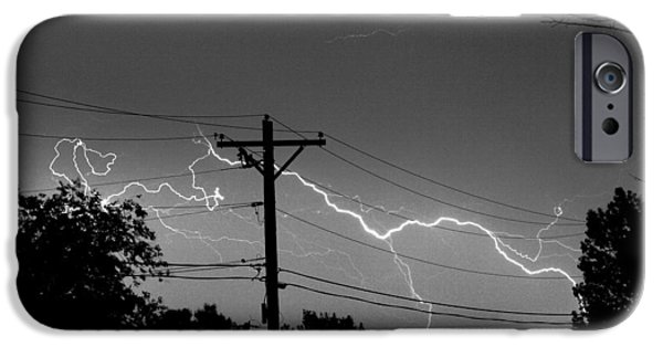 Power Lines Bw Fine Art Photo Print IPhone 6 Case