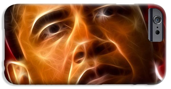 Obama iPhone Cases - President Barack Obama iPhone Case by Pamela Johnson