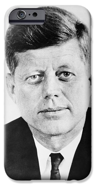 President Photographs iPhone Cases - President John F. Kennedy iPhone Case by War Is Hell Store