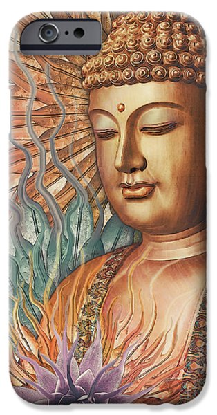 Buddhism iPhone 6 Case - Proliferation Of Peace - Buddha Art By Christopher Beikmann by Christopher Beikmann