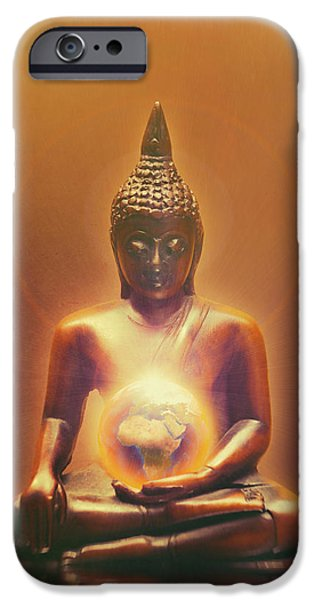 Buddhism iPhone 6 Case - Protecting Earth by Wim Lanclus
