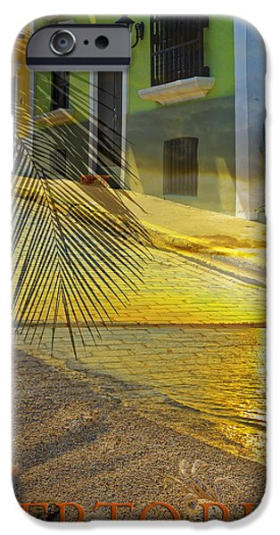 Puerto Rico iPhone Cases - Puerto Rico Collage 3 iPhone Case by Stephen Anderson