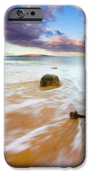 Ebb iPhone Cases - Pulled to the Sea iPhone Case by Mike  Dawson