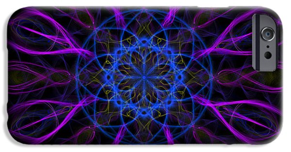 IPhone 6 Case featuring the photograph Purple Blue Kaleidoscope Square by Adam Romanowicz