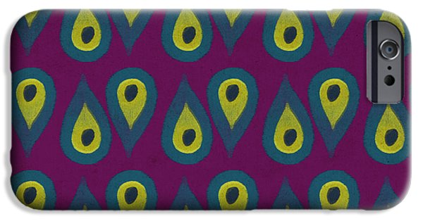 Patterned iPhone Cases - Purple Peackock Print  iPhone Case by Linda Woods