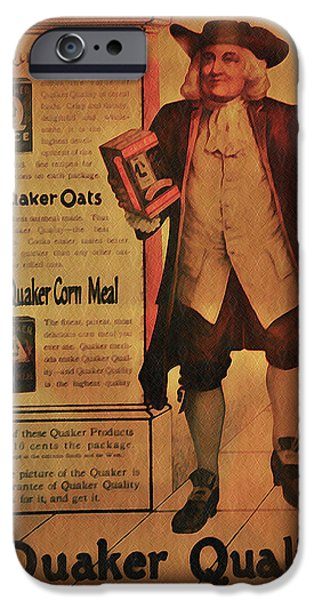 Quaker iPhone Cases - Quaker Quality iPhone Case by Bill Cannon