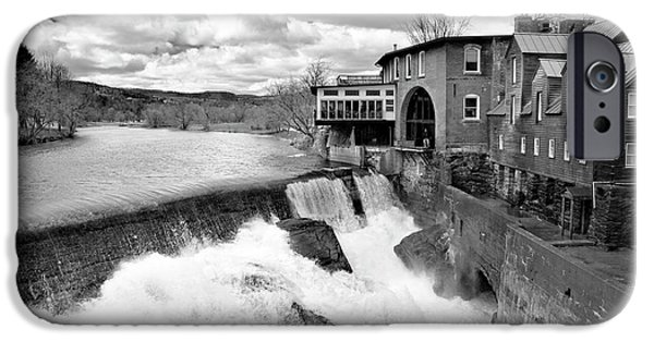 Covered Bridge iPhone Cases - Quechees Thaw iPhone Case by Greg Fortier