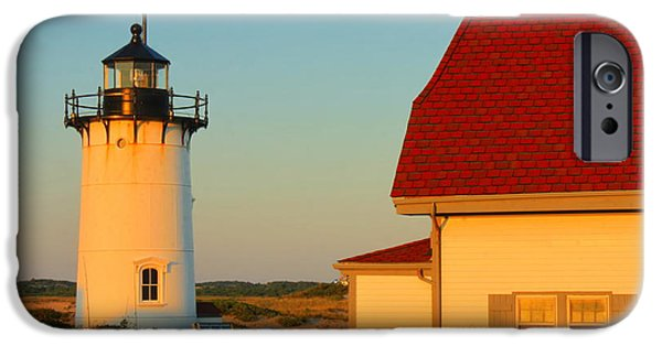 Cape Cod iPhone Cases - Race Point Lighthouse Cape Cod iPhone Case by John Burk