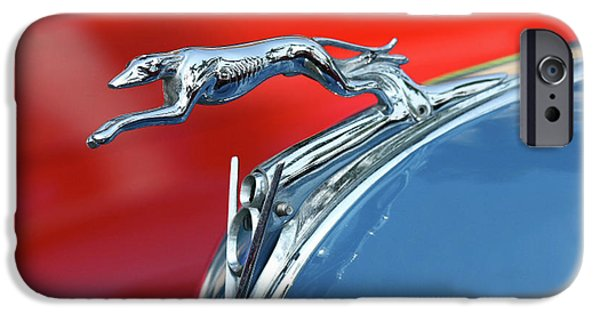 Greyhound Photographs iPhone Cases - Racer iPhone Case by Rebecca Cozart