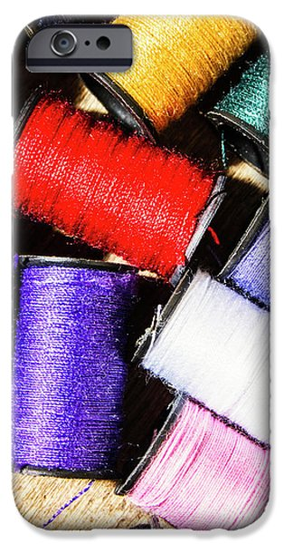 IPhone 6 Case featuring the photograph Rainbow Threads Sewing Equipment by Jorgo Photography - Wall Art Gallery