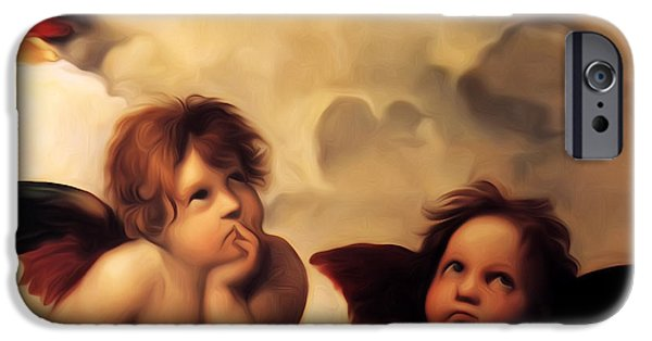 Raphael iPhone Cases - Raphaels Cherubs iPhone Case by Bill Cannon
