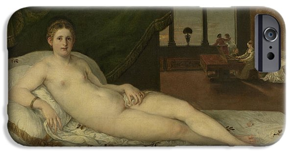 Venus iPhone Cases - Reclining Venus iPhone Case by Lambert Sustris