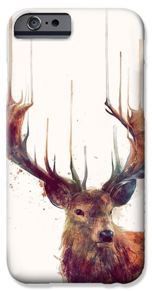 Red iPhone 6 Case - Red Deer by Amy Hamilton