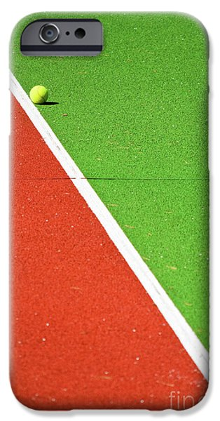 Colorful iPhone 6 Case - Red Green White Line And Tennis Ball by Silvia Ganora