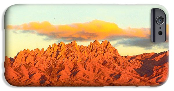 Sunset Framed Prints iPhone Cases - Red Mountain Sunset Organs iPhone Case by Jack Pumphrey