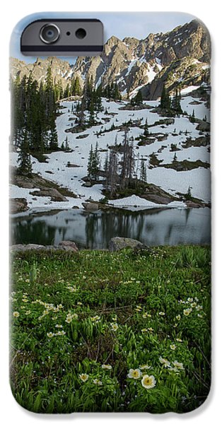 IPhone 6 Case featuring the photograph Red Peak And Willow Lake by Aaron Spong