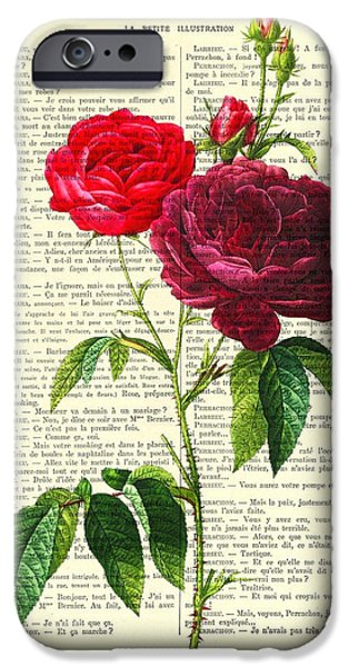 Red Rose iPhone 6 Case - Red Roses For Valentine by Madame Memento