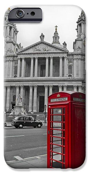 Red Telephone Boxes In London IPhone 6 Case by Gary Eason