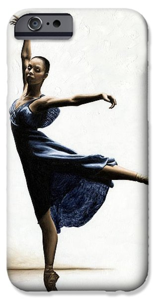 Best Sellers -  - Ballet Dancers iPhone Cases - Refined Grace iPhone Case by Richard Young