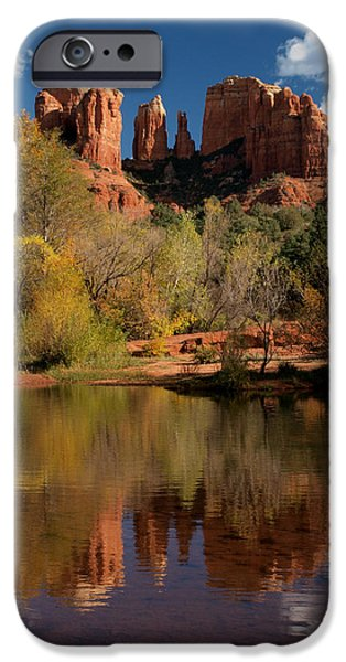 Oak Creek iPhone Cases - Reflections of Sedona iPhone Case by Joshua House
