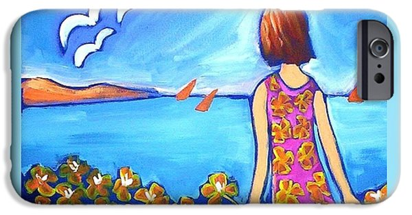 IPhone 6 Case featuring the painting Remembering Joy by Winsome Gunning