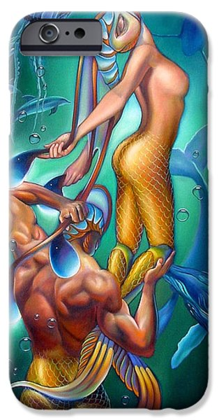 Mermaids iPhone Cases - Resurrection iPhone Case by Patrick Anthony Pierson