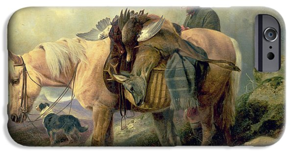 Blanket iPhone Cases - Returning from the Hill iPhone Case by Richard Ansdell