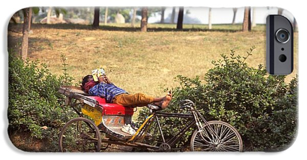 Rickshaw Rider Relaxing IPhone 6 Case by Travel Pics