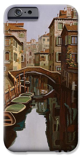 Venice iPhone Cases - Riflesso Scuro iPhone Case by Guido Borelli