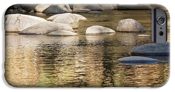 IPhone 6 Case featuring the photograph Ripples And Rocks by Linda Lees